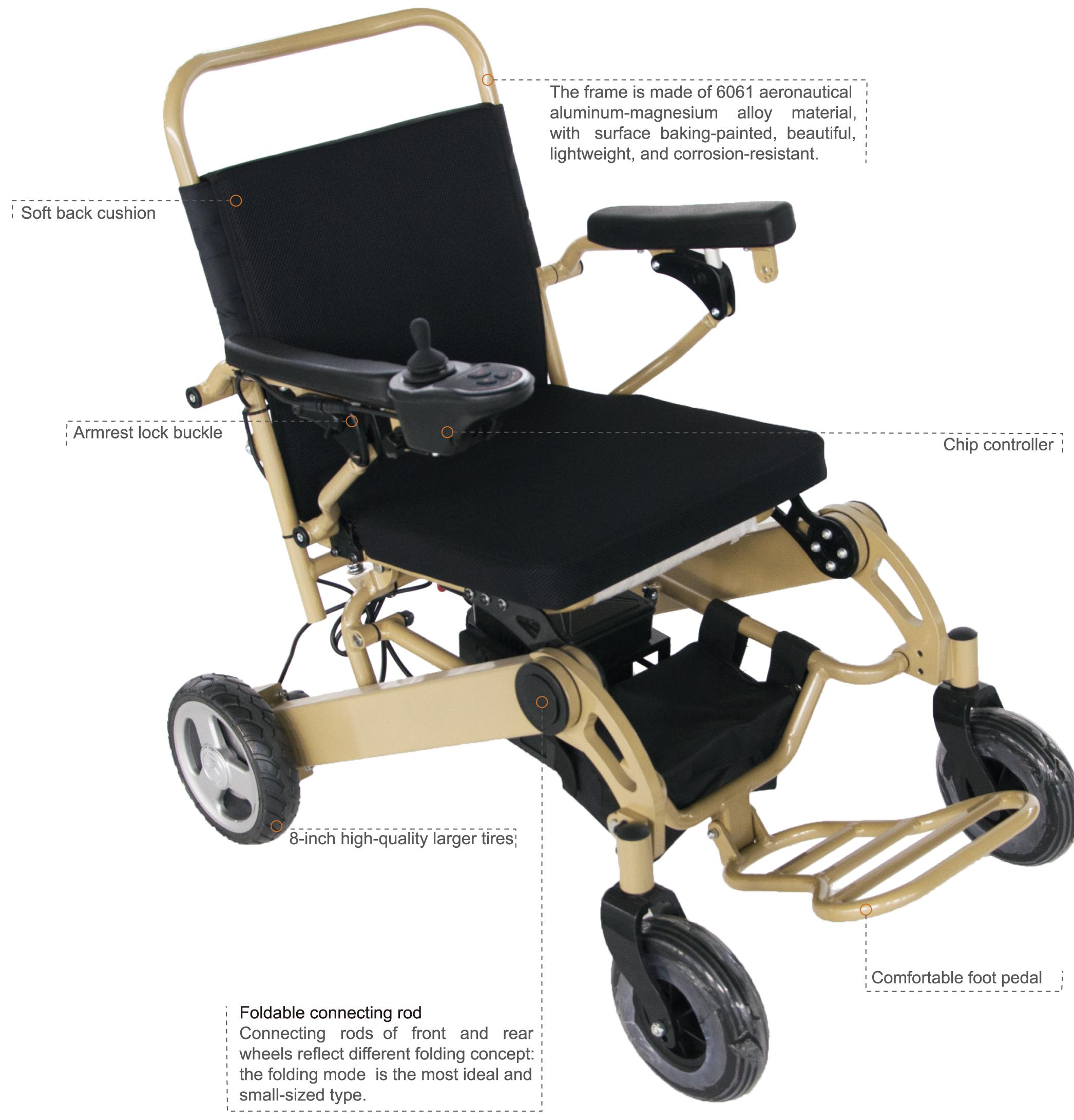 Portable Hospital Folding Lightweight Transport Wheelchair