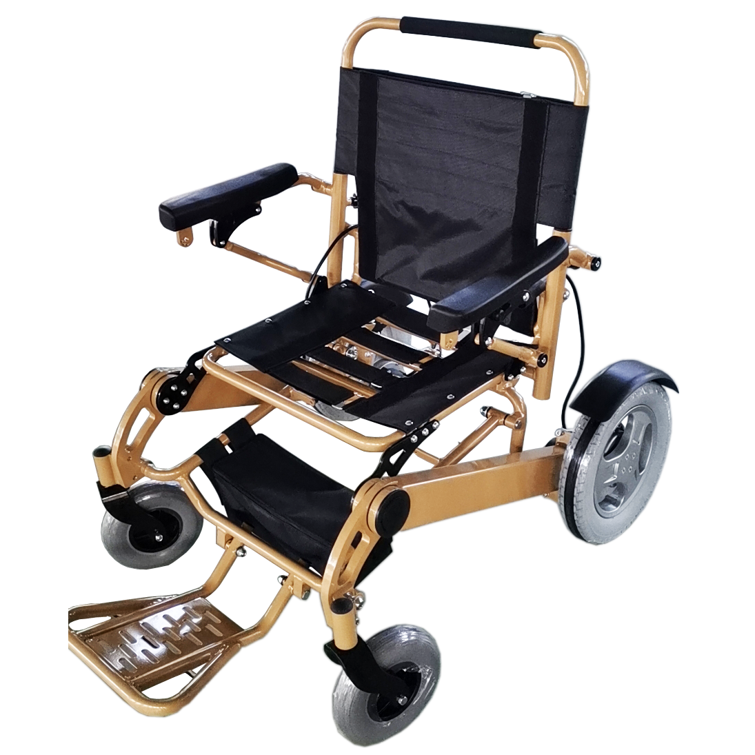 Ultralight Extra Wide Portable Folding Electric Wheelchair for Sale